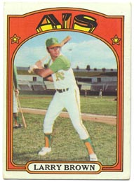 1972 Topps Baseball Cards      279     Larry Brown